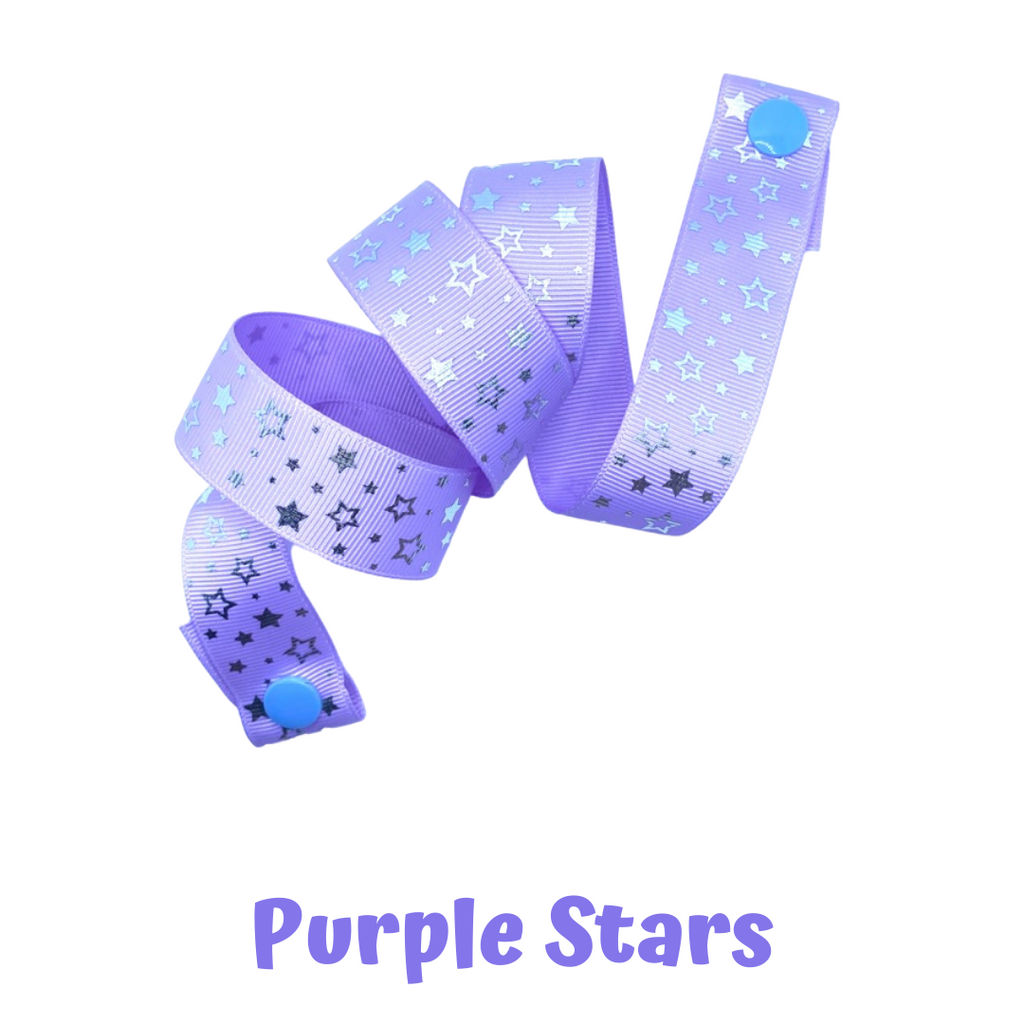 Mask Strap - Purple Stars