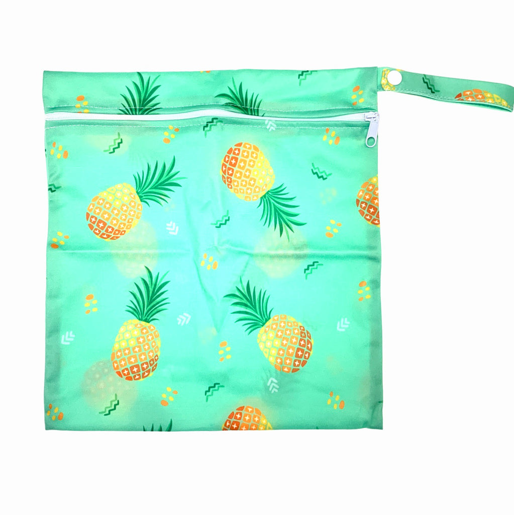 Medium Wetbag - Green Pineapples