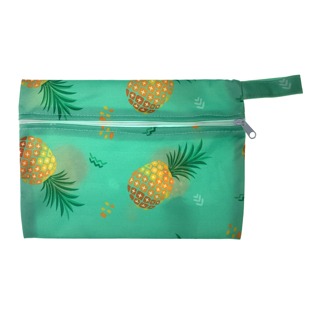 Small Wetbag - Green Pineapples