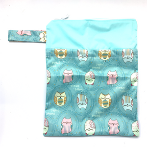 Large Wetbag (Strip) - Green Owl fantasy
