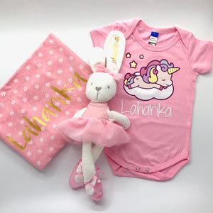 Baby Gift Box 7 : Romper + Blanket + Soft Toy