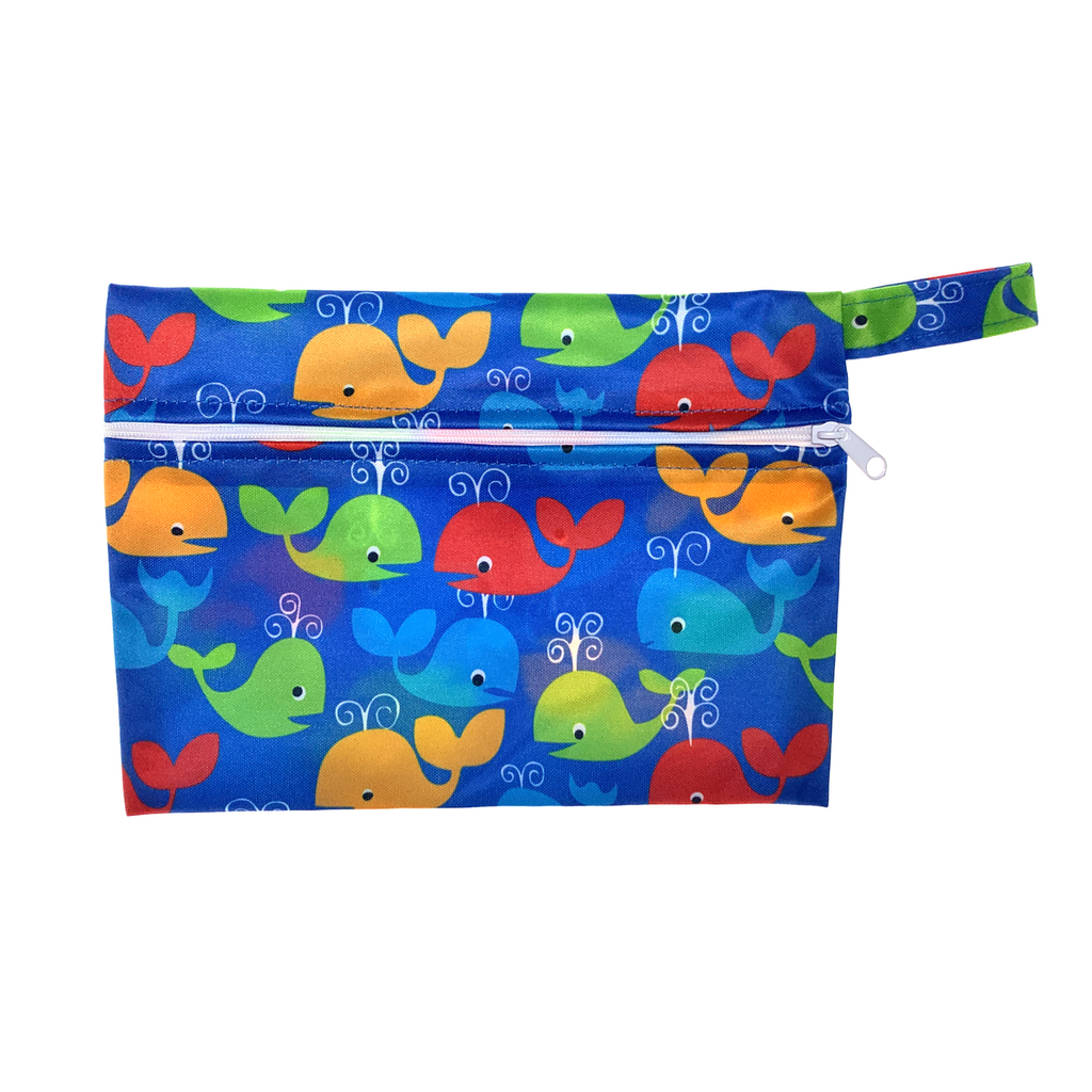 Small Wetbag - Colourful Whales