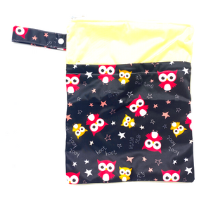 Large Wetbag (Strip) - Black Owls
