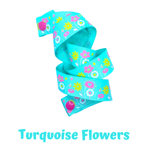 Mask Strap - Turquoise Flowers