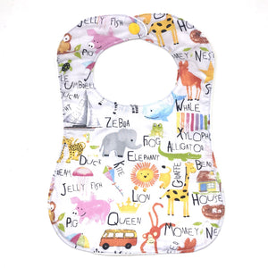 Handmade Bib - Animal Alphabet