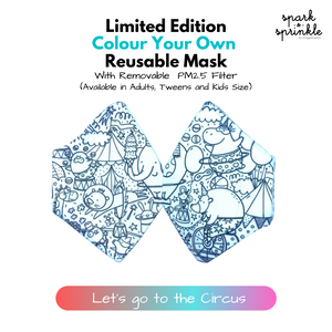Colour Your Own Reusable Mask - Let's go to the Circus