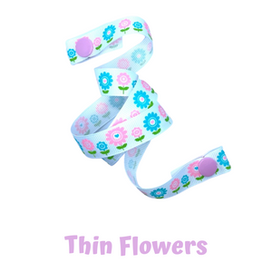 Mask Strap - Thin Flowers