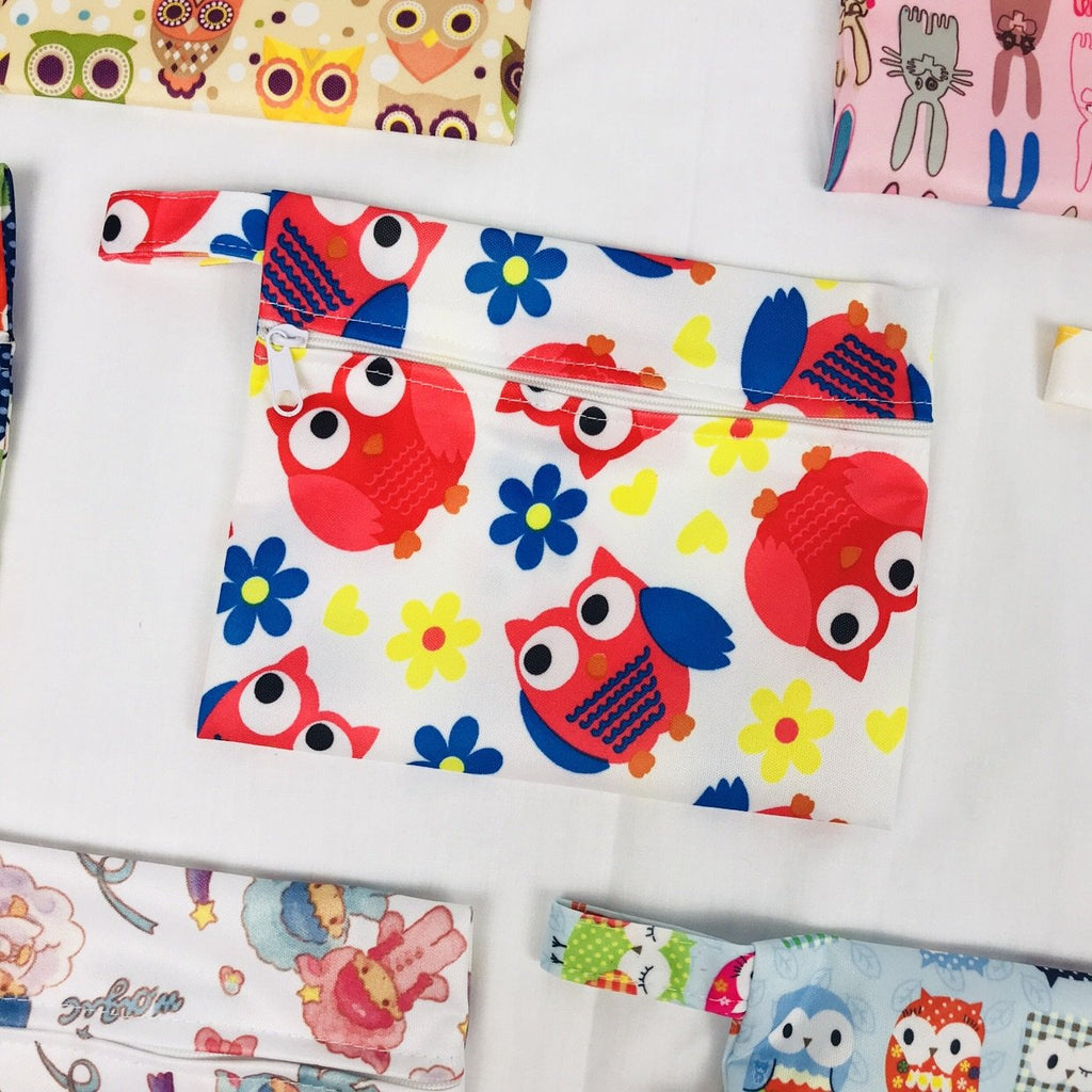 Mini Wetbag - Red Owls