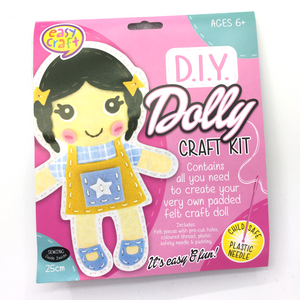 DIY Dolly Craft Kit - Dark Hair
