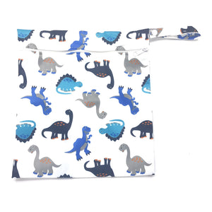Medium Wetbag - Blue Dinosaurs