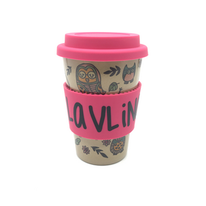 Owl Hourly Cafe Mug (Pink)