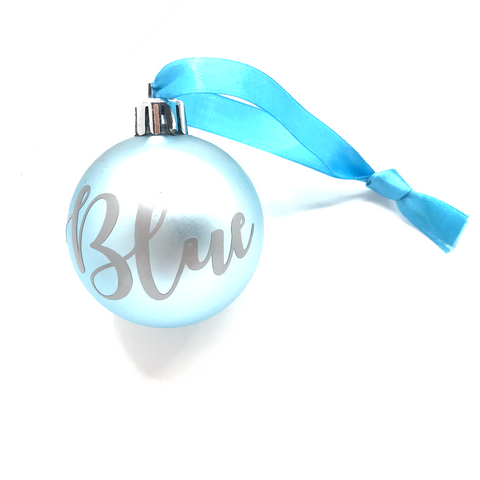 Personalised Christmas Bauble (Matte Blue)