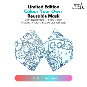 Colour Your Own Reusable Mask - Under the Sea