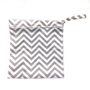 Medium Wetbag - Grey Chevron