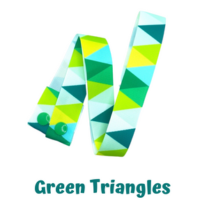 Mask Strap - Green Triangles
