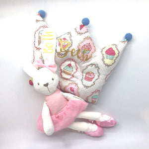 Baby Gift Box 4 : Soft Toy & Crown Pillow Set