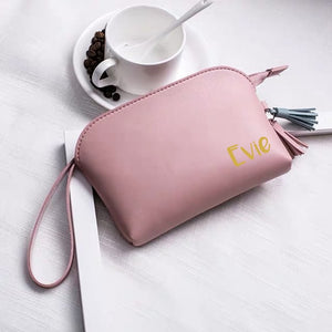 Leather Kiera Pouch (Pink)