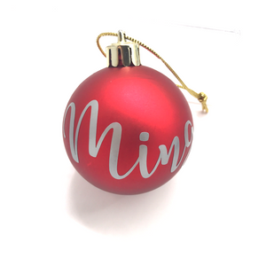 Personalised Christmas Bauble (Red)