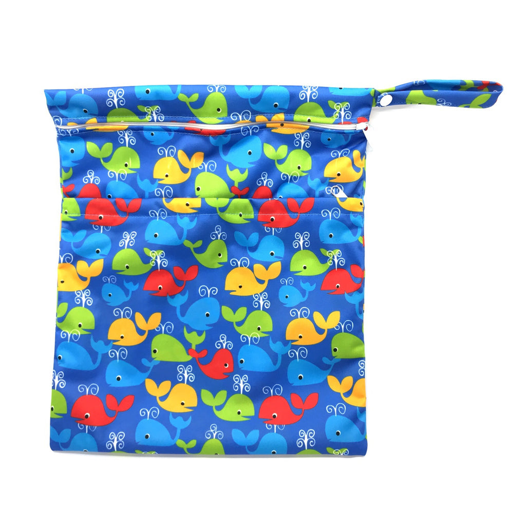 Large Wetbag - Colourful Whales
