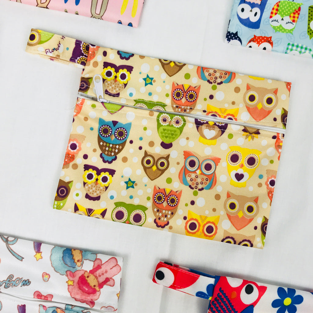 Mini Wetbag - Big Eye Owls