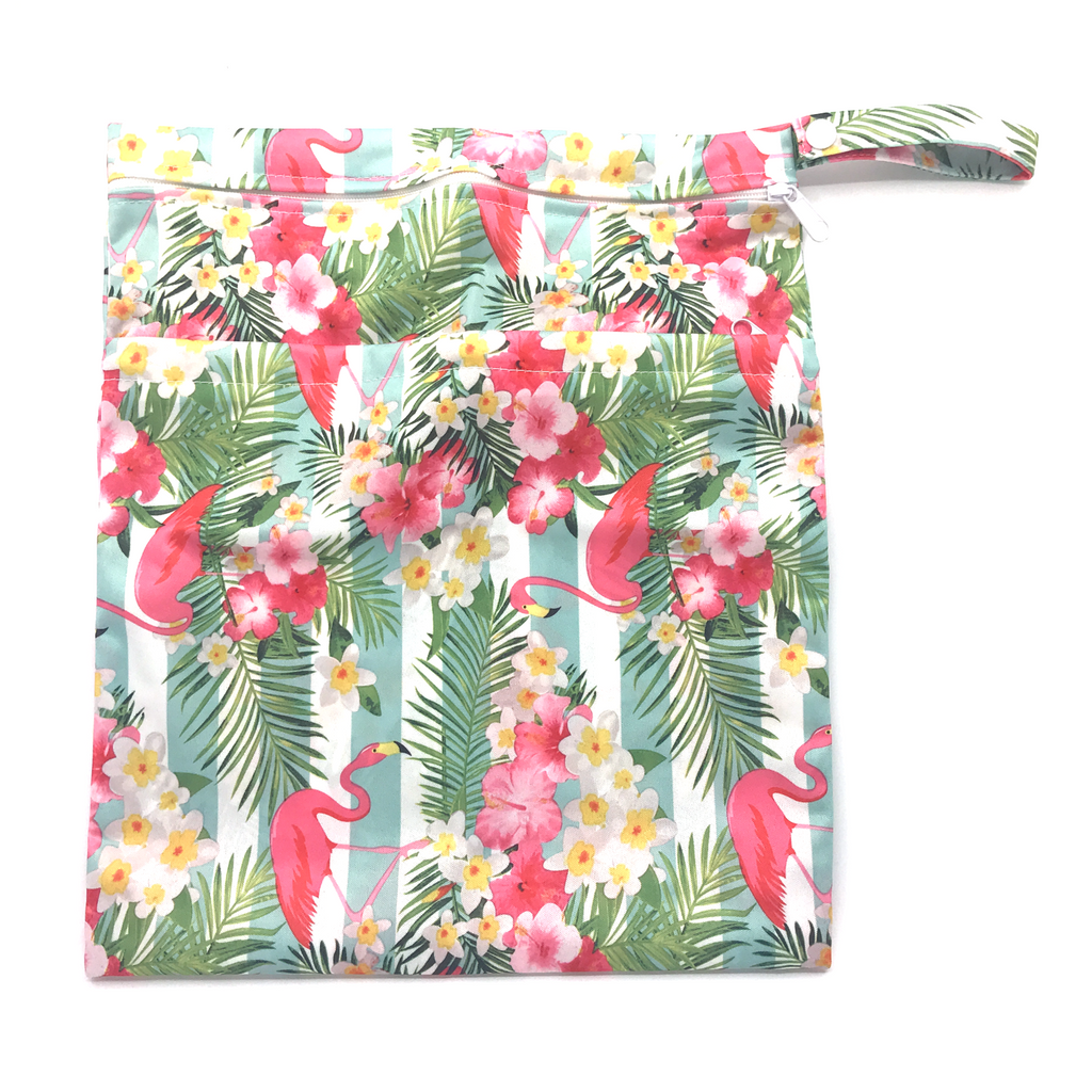 Large Wetbag - Flowery Flamingo