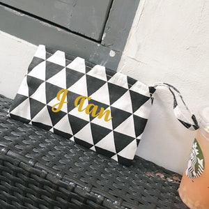 Wristlet - Black Triangles