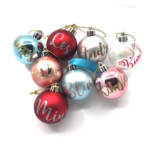 Personalised Christmas Bauble (Matte Pink)