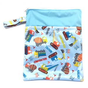 Large Wetbag (Strip) - Blue Diggers