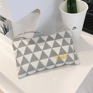 Wristlet - Grey Triangle