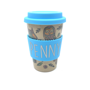 Owl Hourly Cafe Mug (Blue)