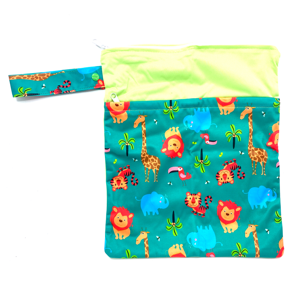 Large Wetbag (Strip) - Green Safari