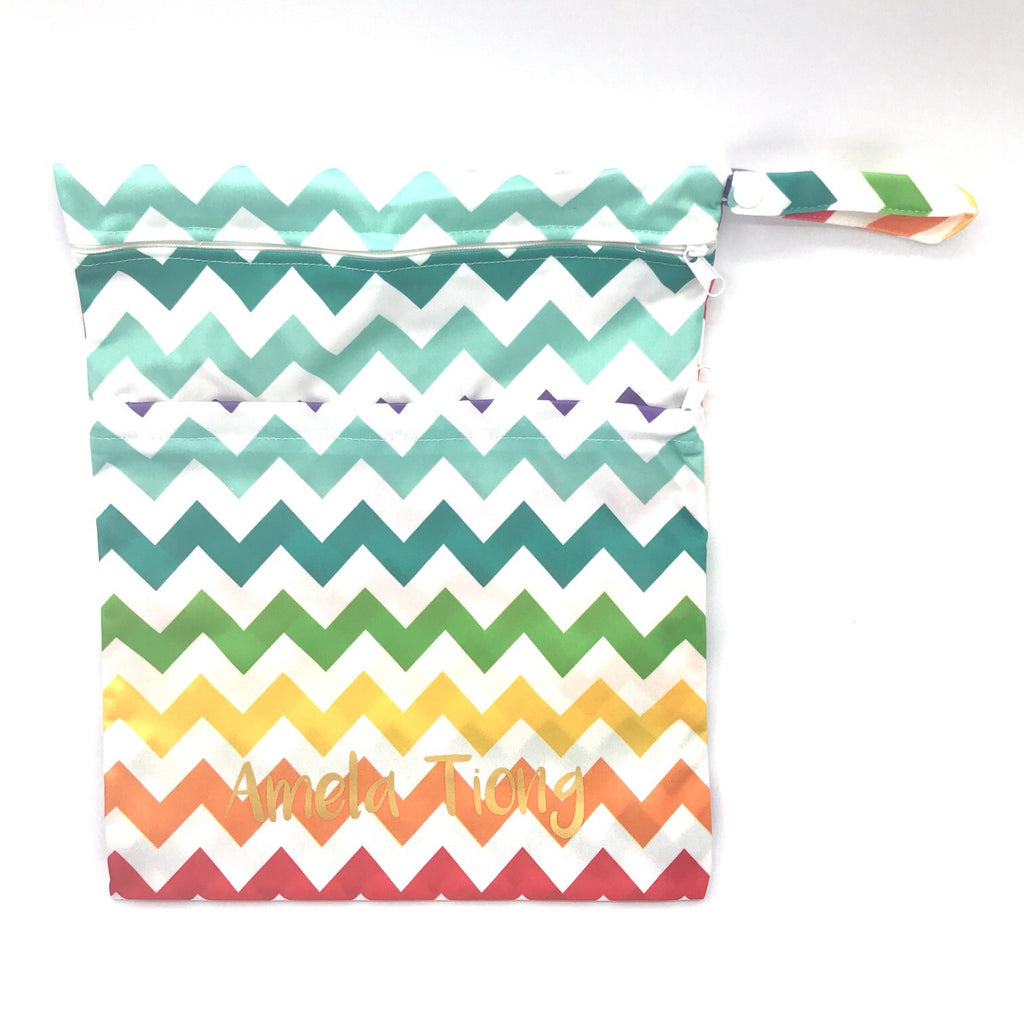 Large Wetbag - Colourful Chevron