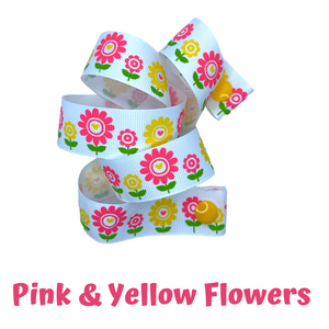 Mask Strap - Flowers (Pink & Yellow)