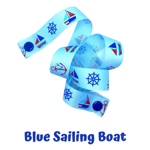 Mask Strap - Blue Sailing Boat
