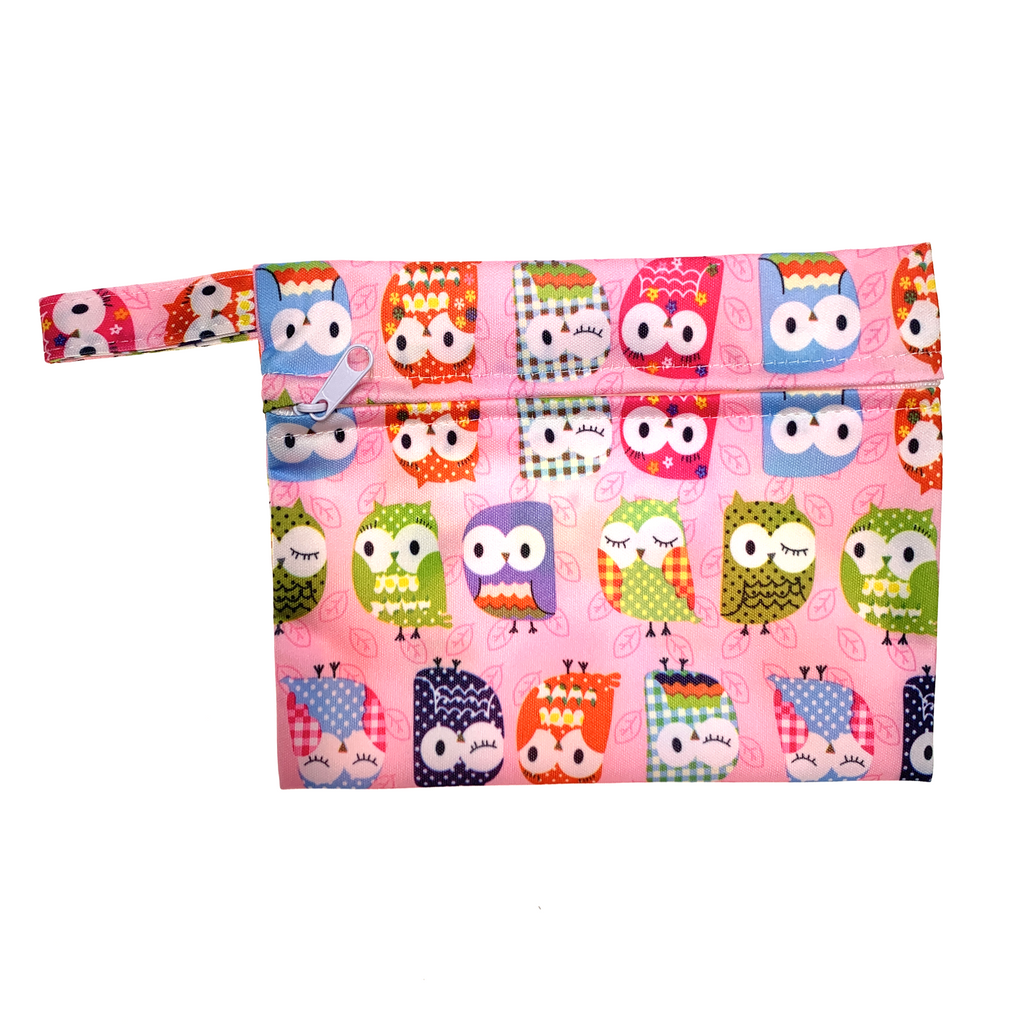 Mini Wetbag - Pink Owls