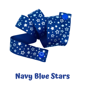 Mask Strap - Navy Blue Stars