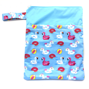 Large Wetbag (Strip) - Floating Unicorns