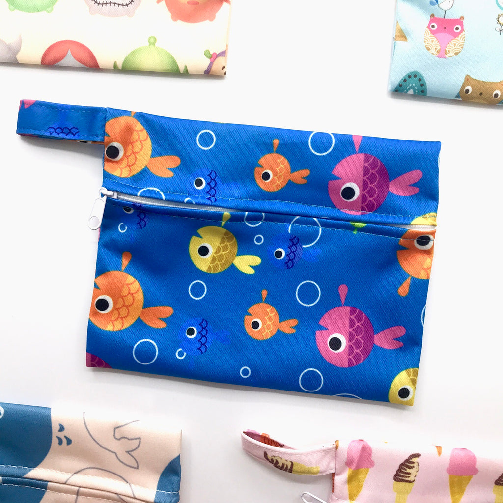 Mini Wetbag - Colourful Fish