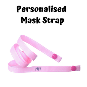 Mask Strap - Light Pink Polkadots