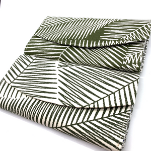 Handsewn Red/Green Packet Organiser - Leafy Green (White)