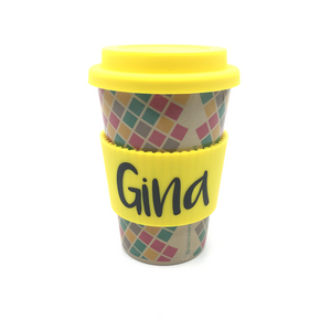 Tiley Mosaic Cafe Mug (Yellow)