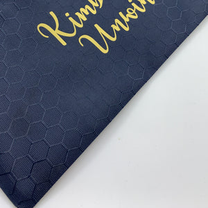 Honey Comb Canvas pencil case - Navy Blue
