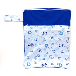 Large Wetbag (Strip) - Blue Zoo