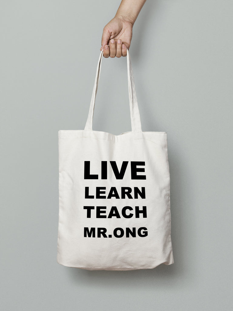 E14: Tote Bag - LIVE LEARN TEACH