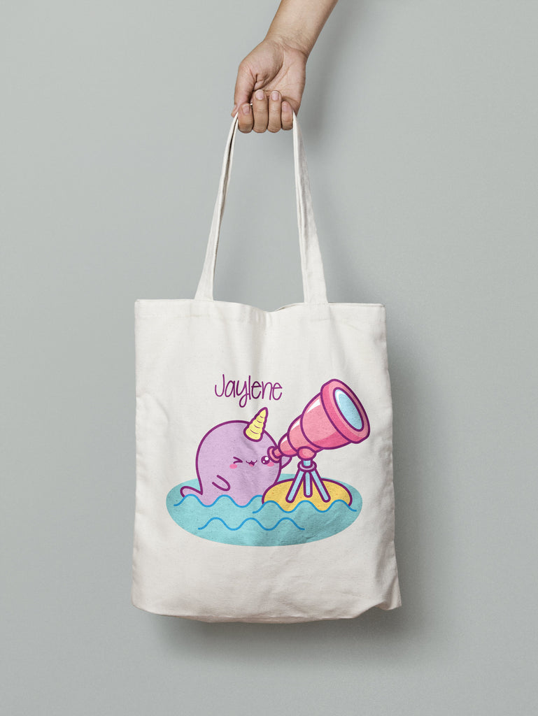Tote Bag - Narwhal Looking Glass