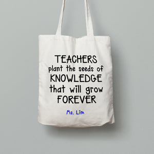 E12: Tote Bag - Seeds of Knowledge