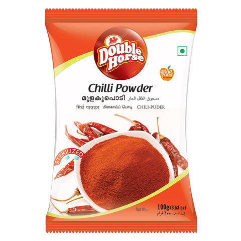DOUBLE HORSE CHILLI POWDER 100GM MRP RS30