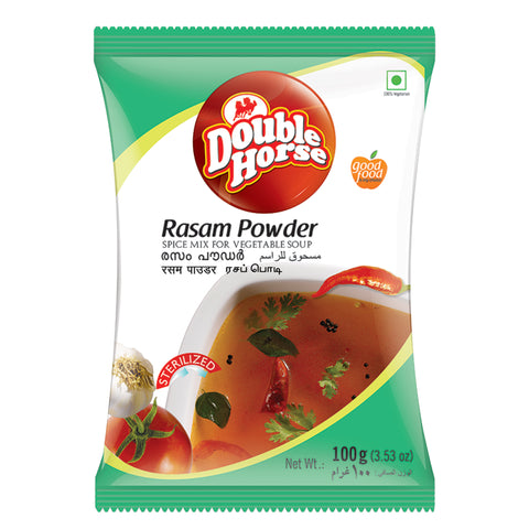 DOUBLE HORSE RASAM POWDER 100GM MRP RS42