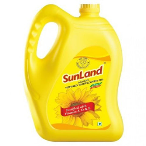 SUNLAND SUNFLOWER OIL 5LTR CAN MRP RS