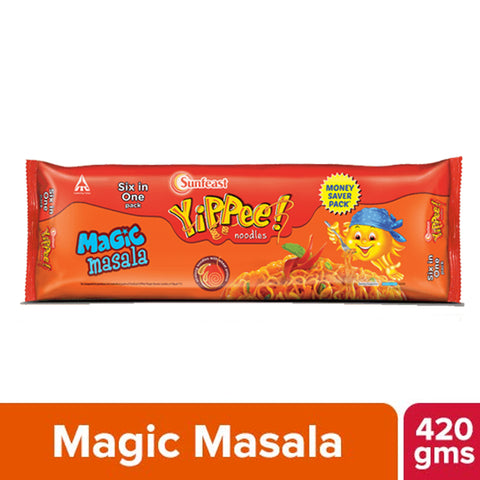 YIPPEE MAGIC MASALA NOODLES 420GM MRP RS67